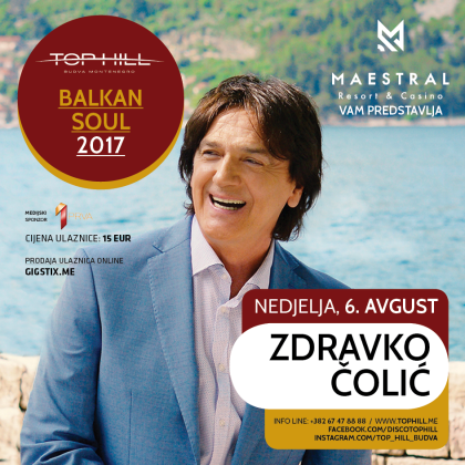Maestral Resort & Casino presents you a big concert by Zdravko Čolić in the disco Top Hill!