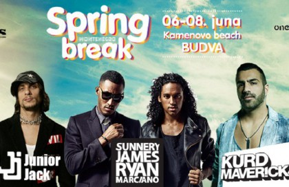 Finished Spring Break festival in Budva