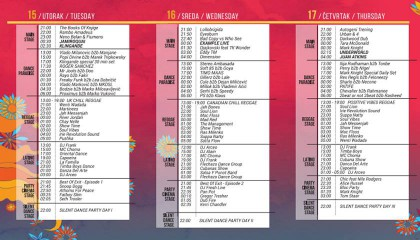 Published schedule Sea Dance Festival