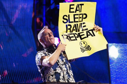 Fatboy Slim in July in a disco Top Hill
