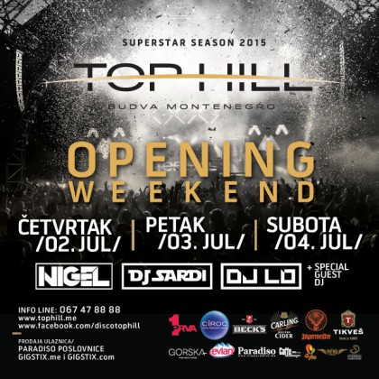 Top Hill: Opening Tonight