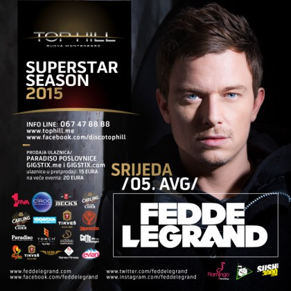 Fedde Le Grand on August 5 at the club Top Hill