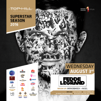 Fedde Le Grand on August 3 at the club Top Hill