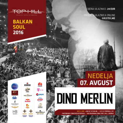 Dino Merlin in club Top Hill 07.08.!